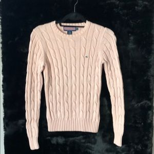 Vinyard Vines Pink Cable Knit Sweater